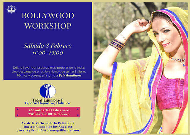 Taller de Bollywood workshop en Team- Equilibra-T